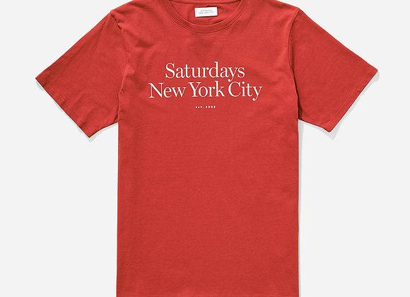 Saturdays NYC MILLER Standard T-Shirt | brick