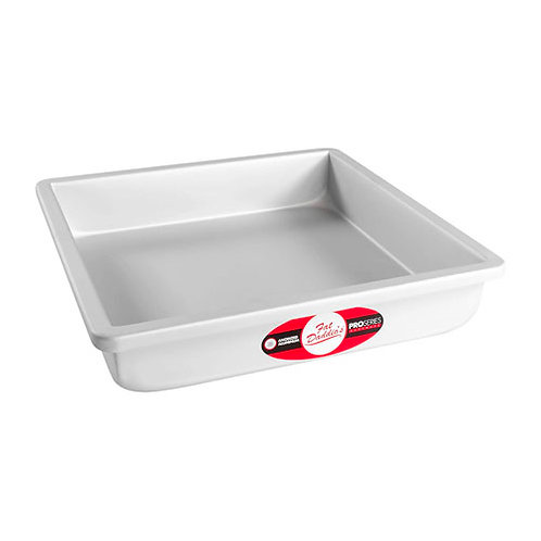 "Square cake pan solid bottom 16""x16""x3"""
