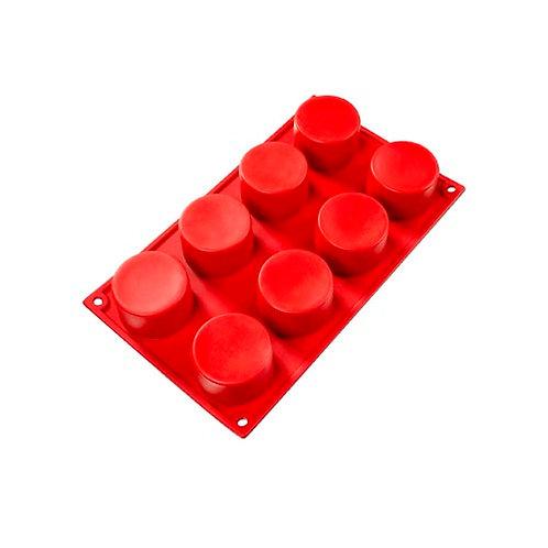 """Cylinder, 3 oz, 2.36"""" x 1.38"""" deep, 8 cavities"""