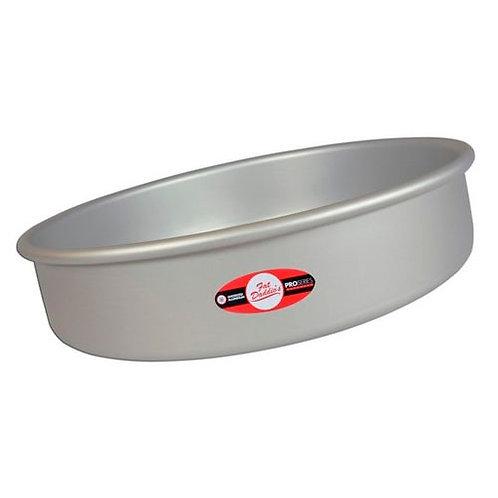 "Round cake pan solid bottom 13""x3"""
