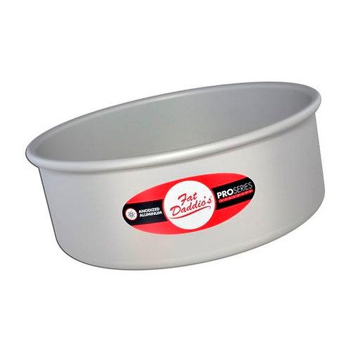 "Round cake pan solid bottom 3""x2"""