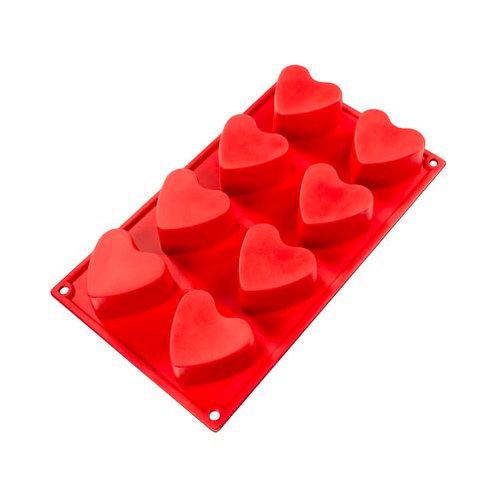 """Heart, 3 oz, 2.36"""" x 1.38"""" deep, 8 cavities"""