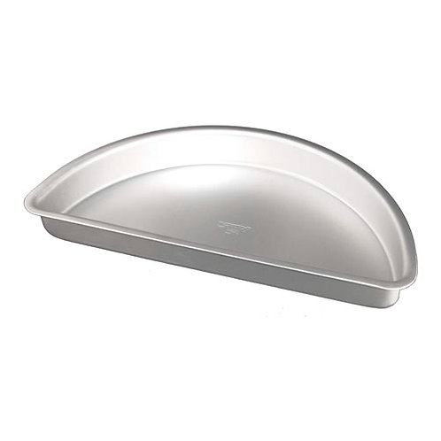 "Half round cake pan solid bottom 18""x3"""