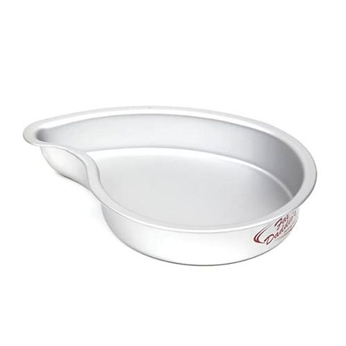 "Comma cake pan solid bottom 14""x3"""