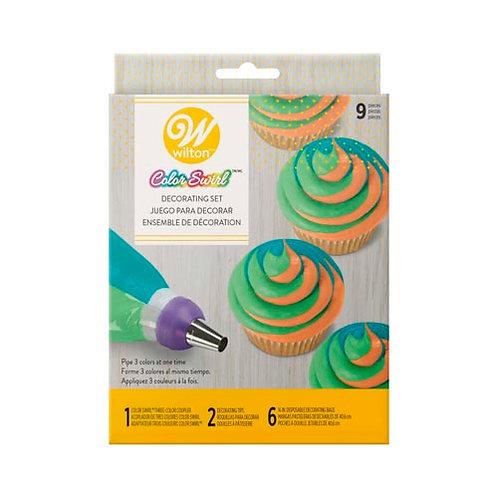 Tri Color Decorating Set 9pc