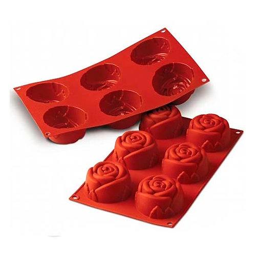 """Rose, 3.89 oz, 2.99"""" x 1.57"""" high, 6 cavities"""