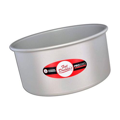 "Round cake pan solid bottom 4""x3"""