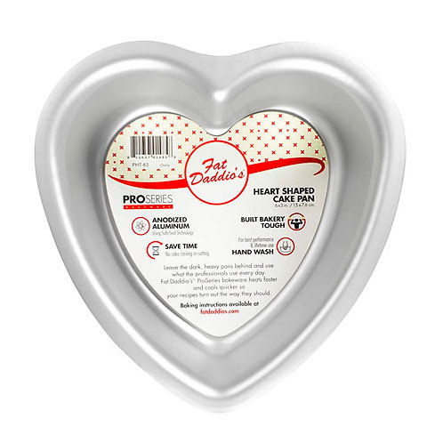 "Heart cake pan solid bottom 12""x3"""