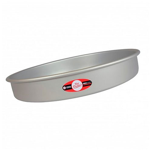 "Round cake pan solid bottom 14""x2"""