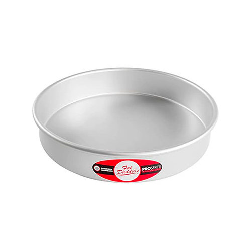 "Round cake pan solid bottom 10""x2"""
