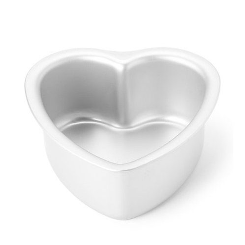 "Heart cake pan solid bottom 6""x3"""