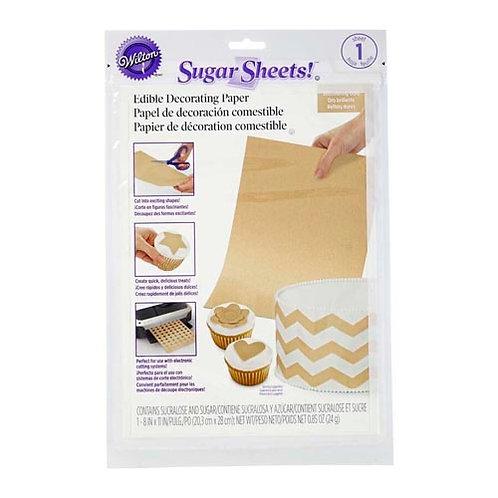 Gold Shimmer Sugar Sheets