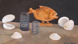 PIranha, oil/linen, 14 x 24
