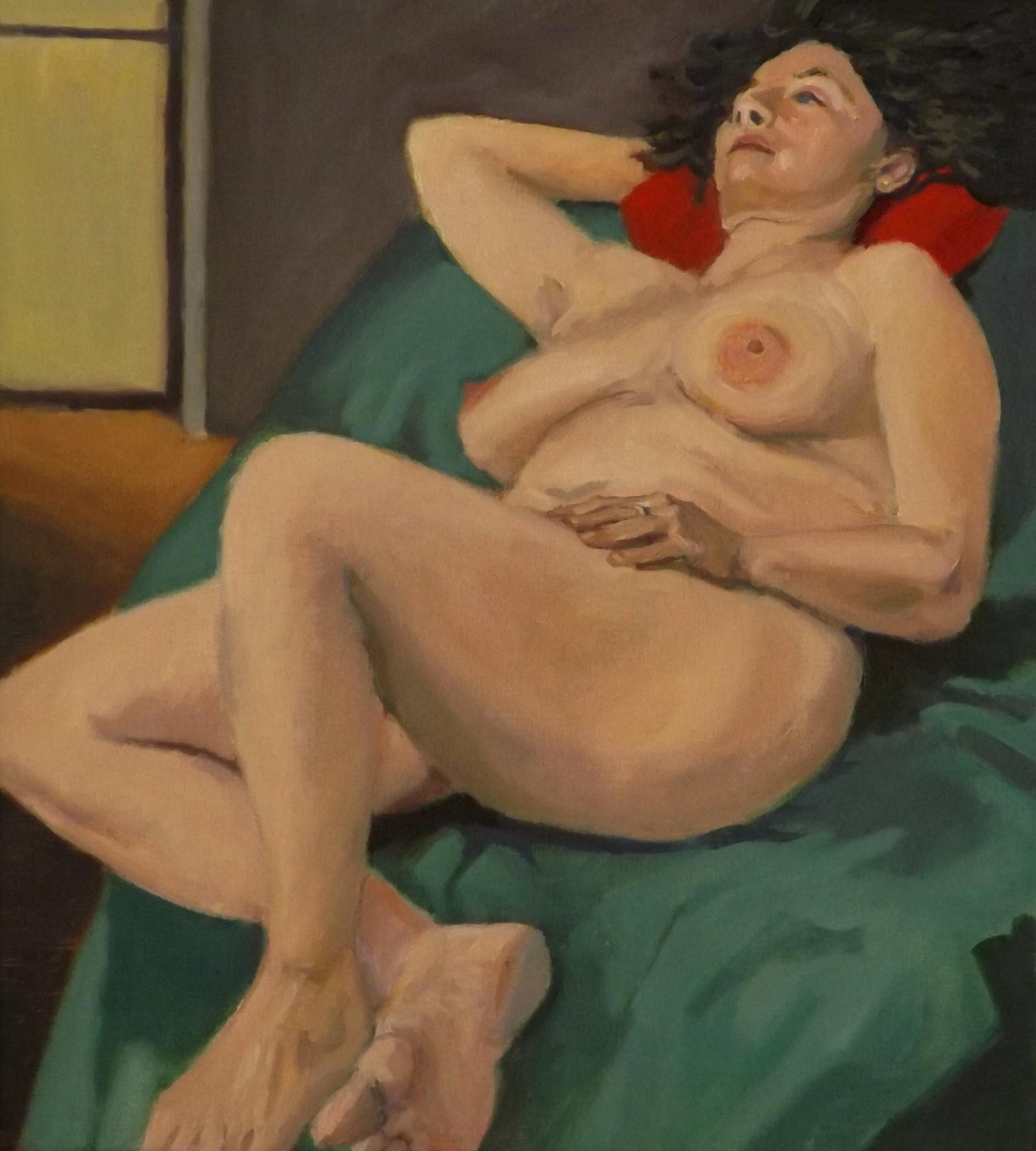 Nude, oil, 20 x 18