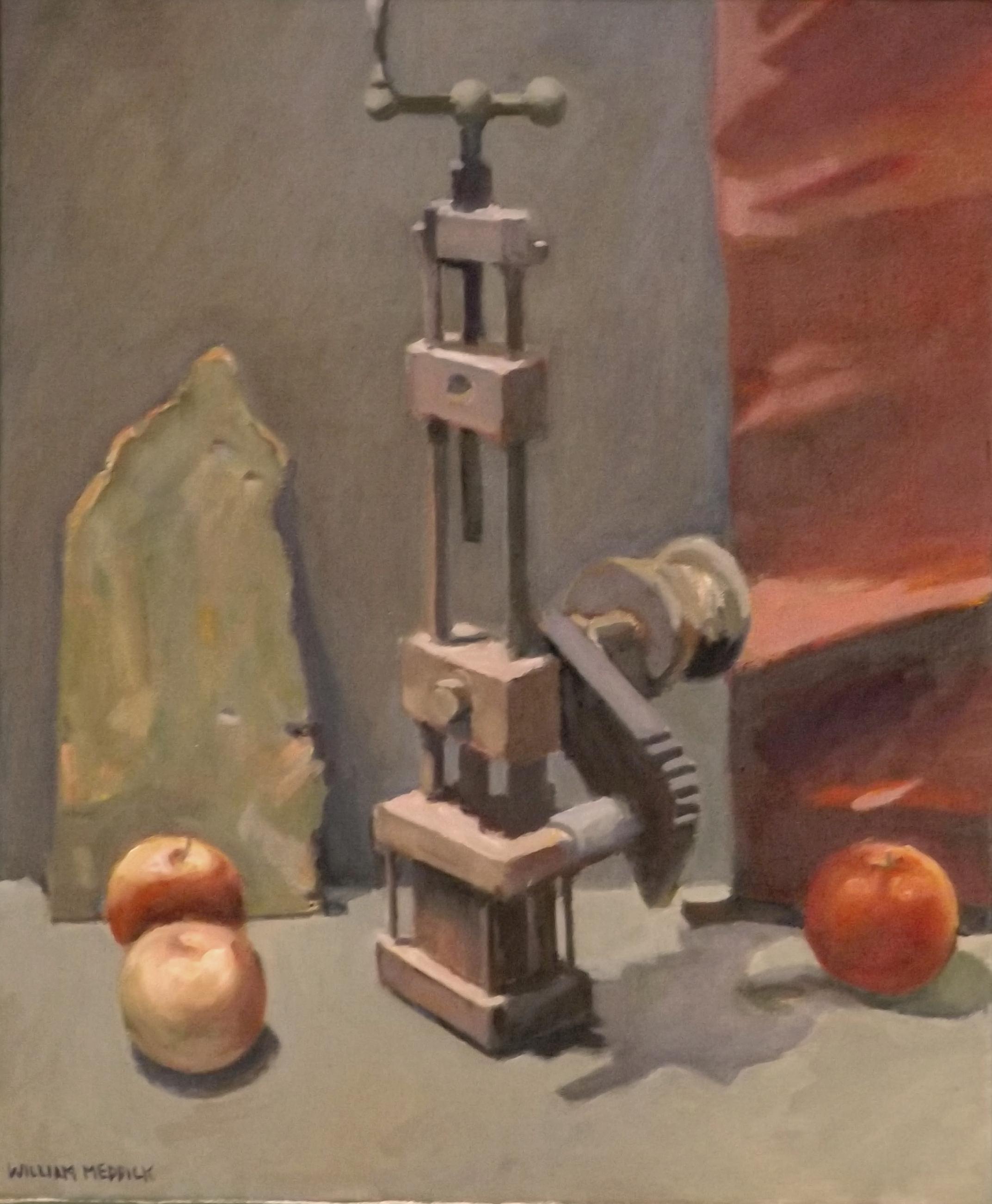 Wood Machinery, oil, 24 x 20