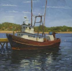 Trawler, oil/linen, 16 x 16
