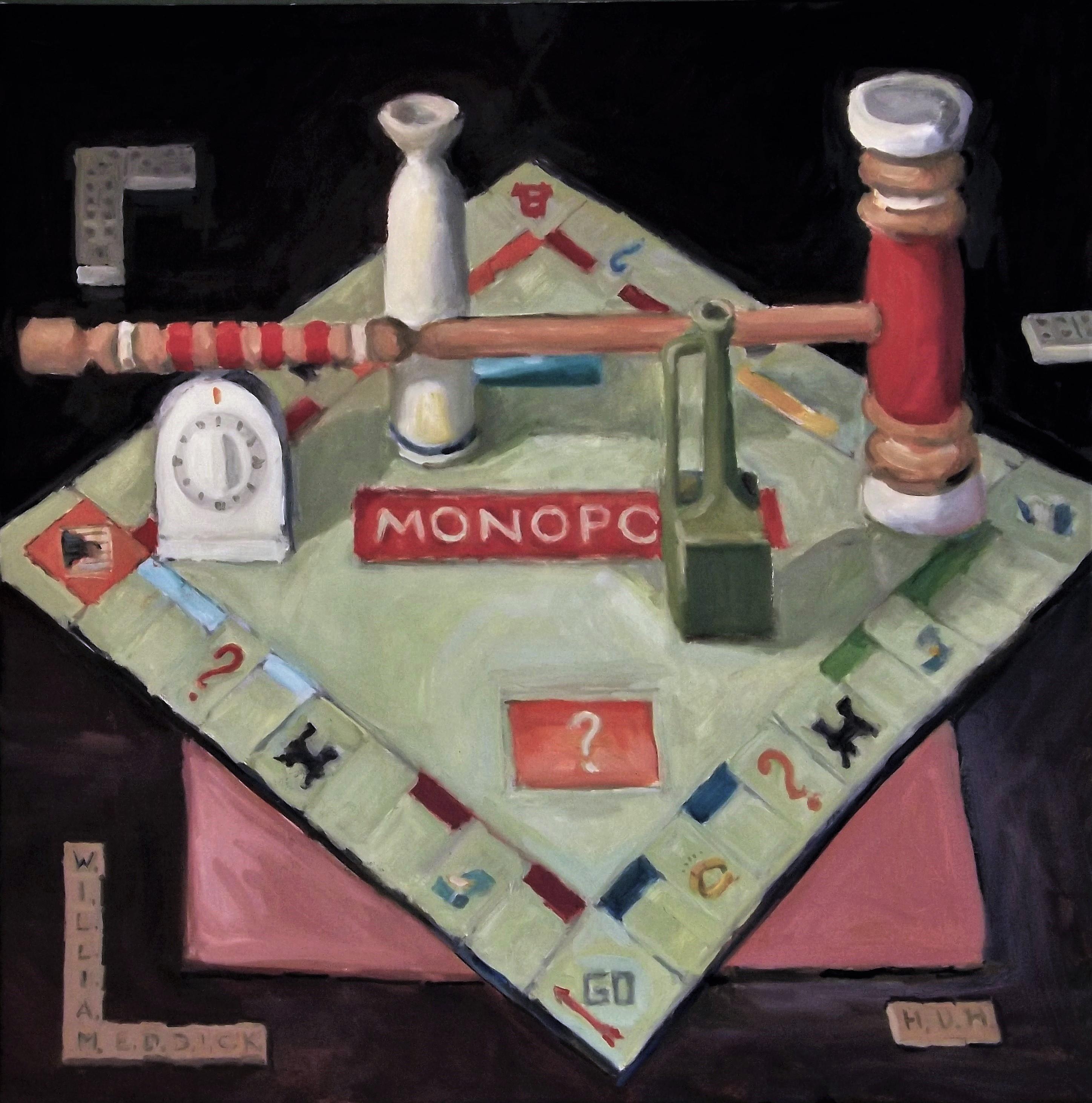 Monopoly, oil/linen, 24 x 24