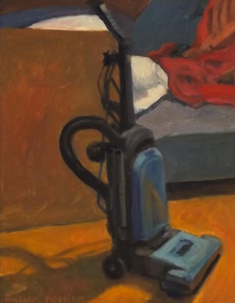 Vacuum, oil/linen, 18 x 14