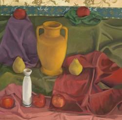 Apples or Yellow Vase, oil, 30 x 32
