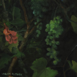 Grapes at Night, oil on wood,