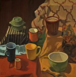 Colors, oil/linen, 30 x 30