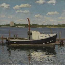 School Boat, oil/linen, 16 x 16