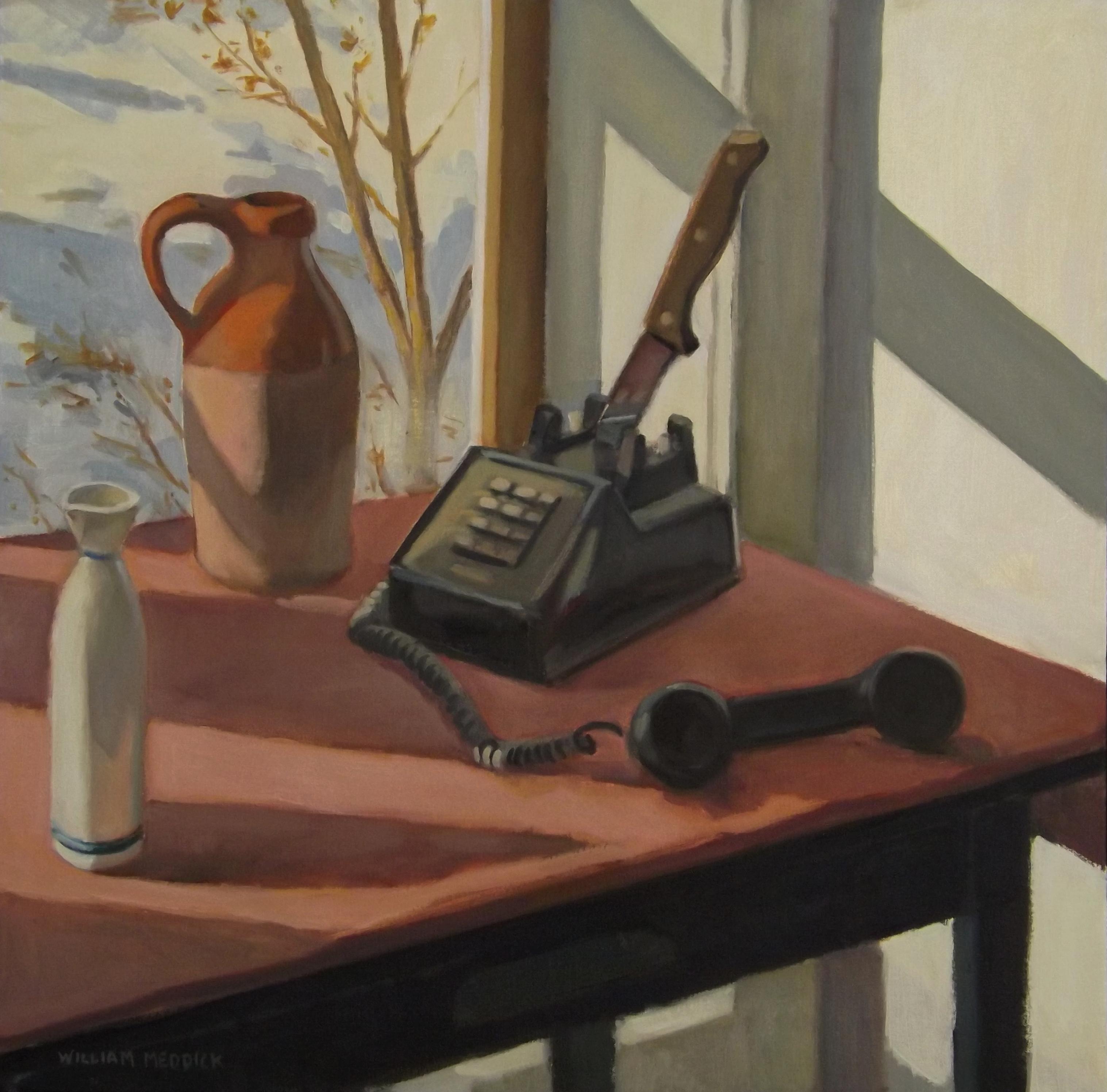 Dead Phone, oil, 20 x 20