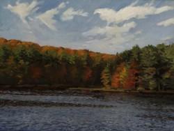 Lake Wintergreen, oil/linen, 18 x 24