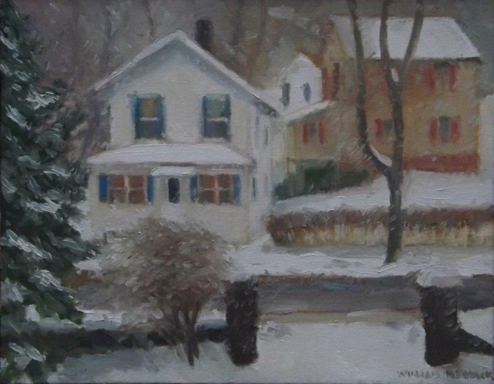 Snowy Day, oil, 11 x 14