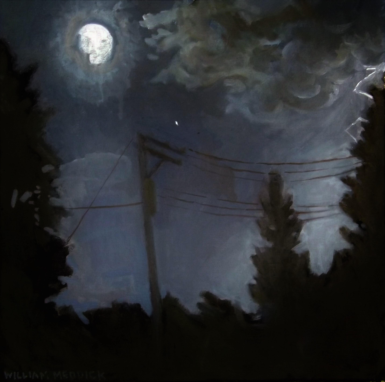 Night Storm, oil/linen, 16 x 16