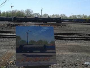 Finally back outside ...my comfort zone. Day 1 of Train Yard