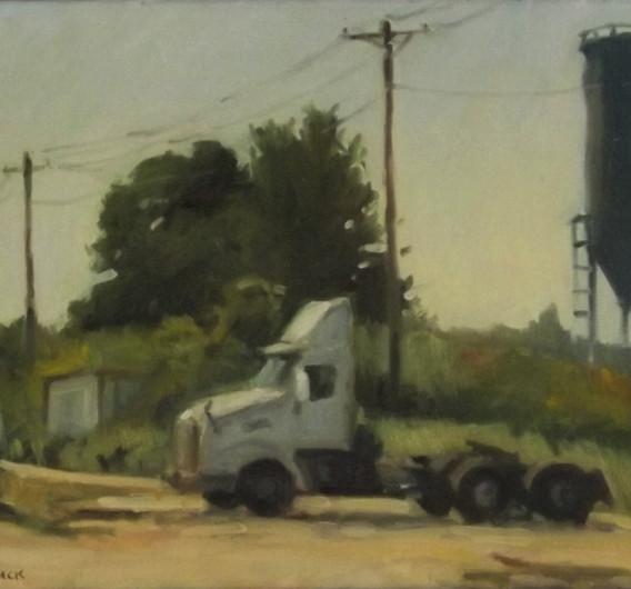 Lone Truck, oil