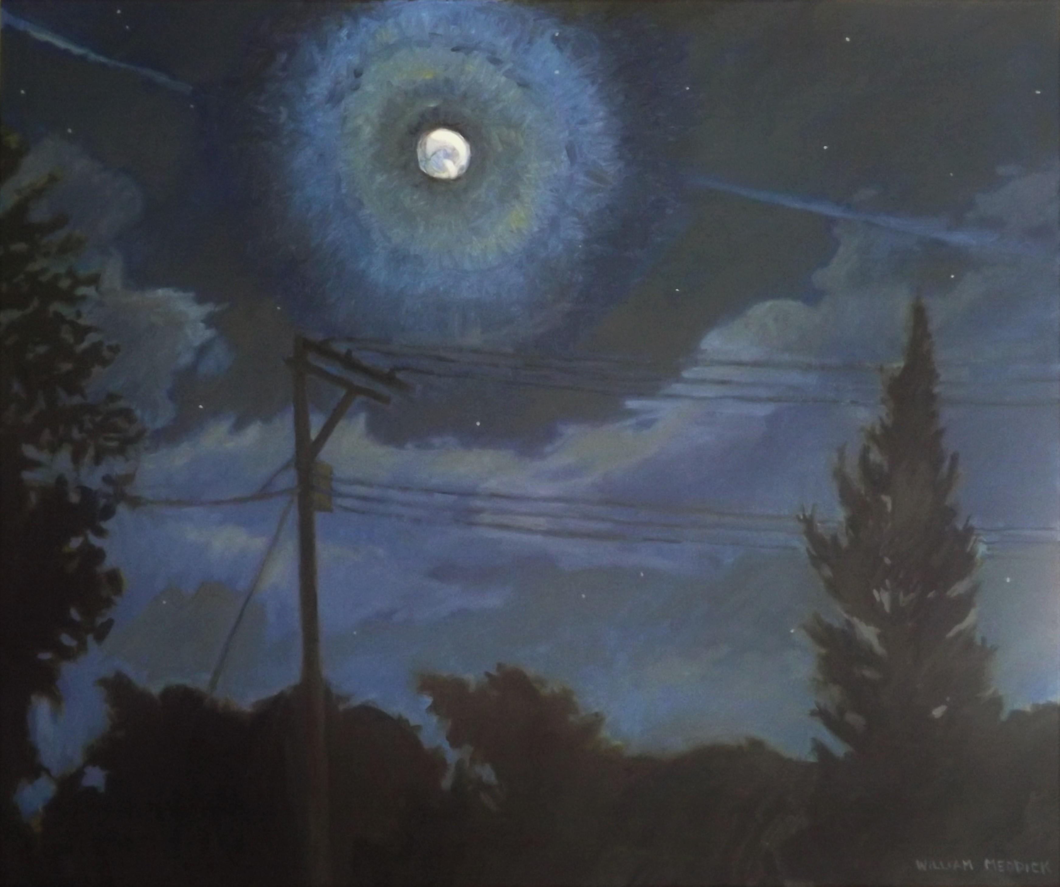 Moon at Night, oil/linen, 30 x 36