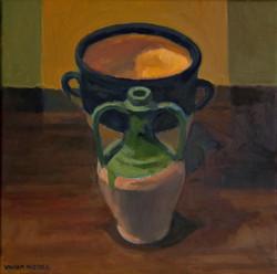 Two Vases, oil/linen, 16 x 16