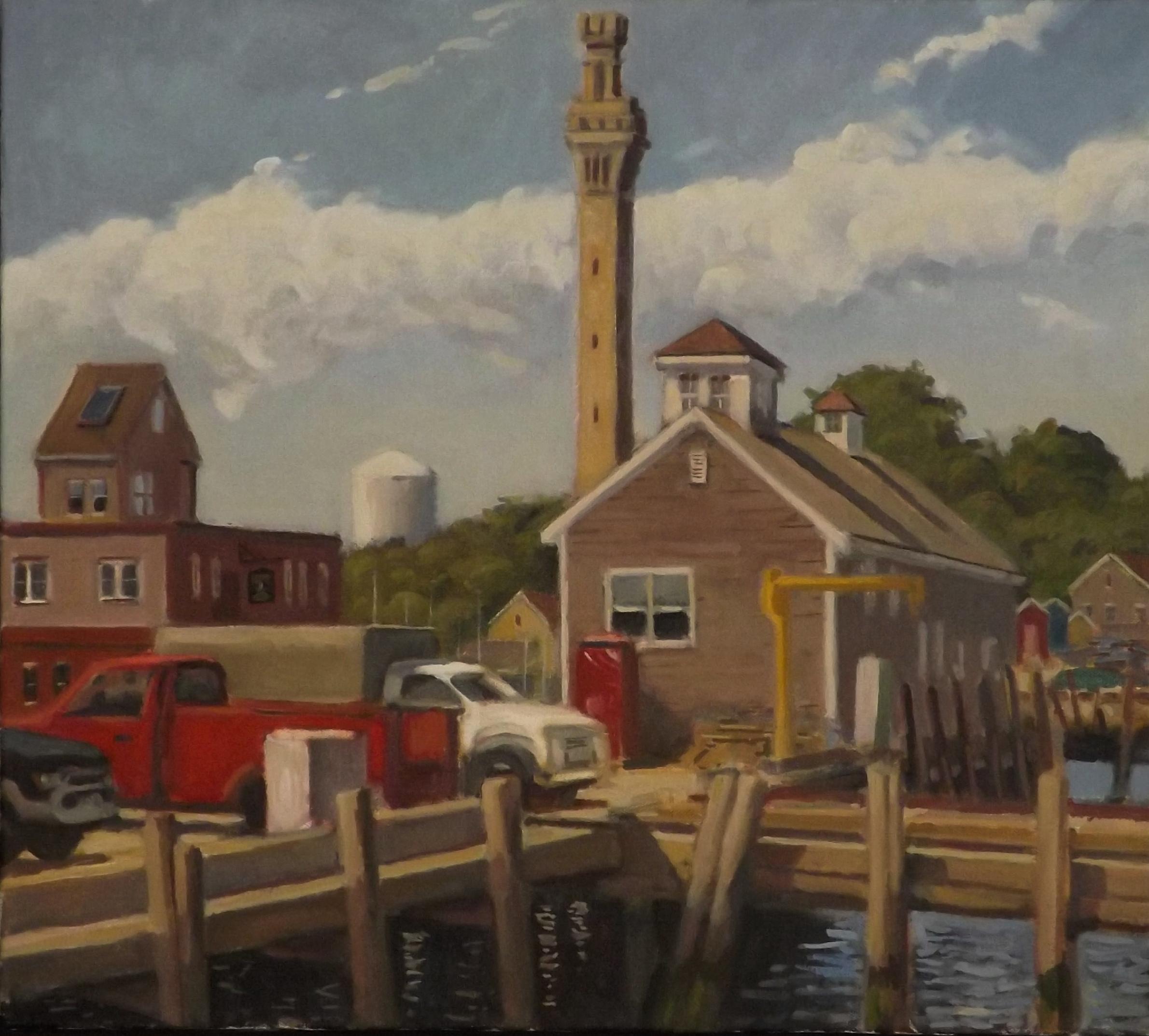 Macmillan's Wharf, oil, 18 X 20