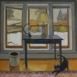 Black Table, oil/linen, 34 x 34