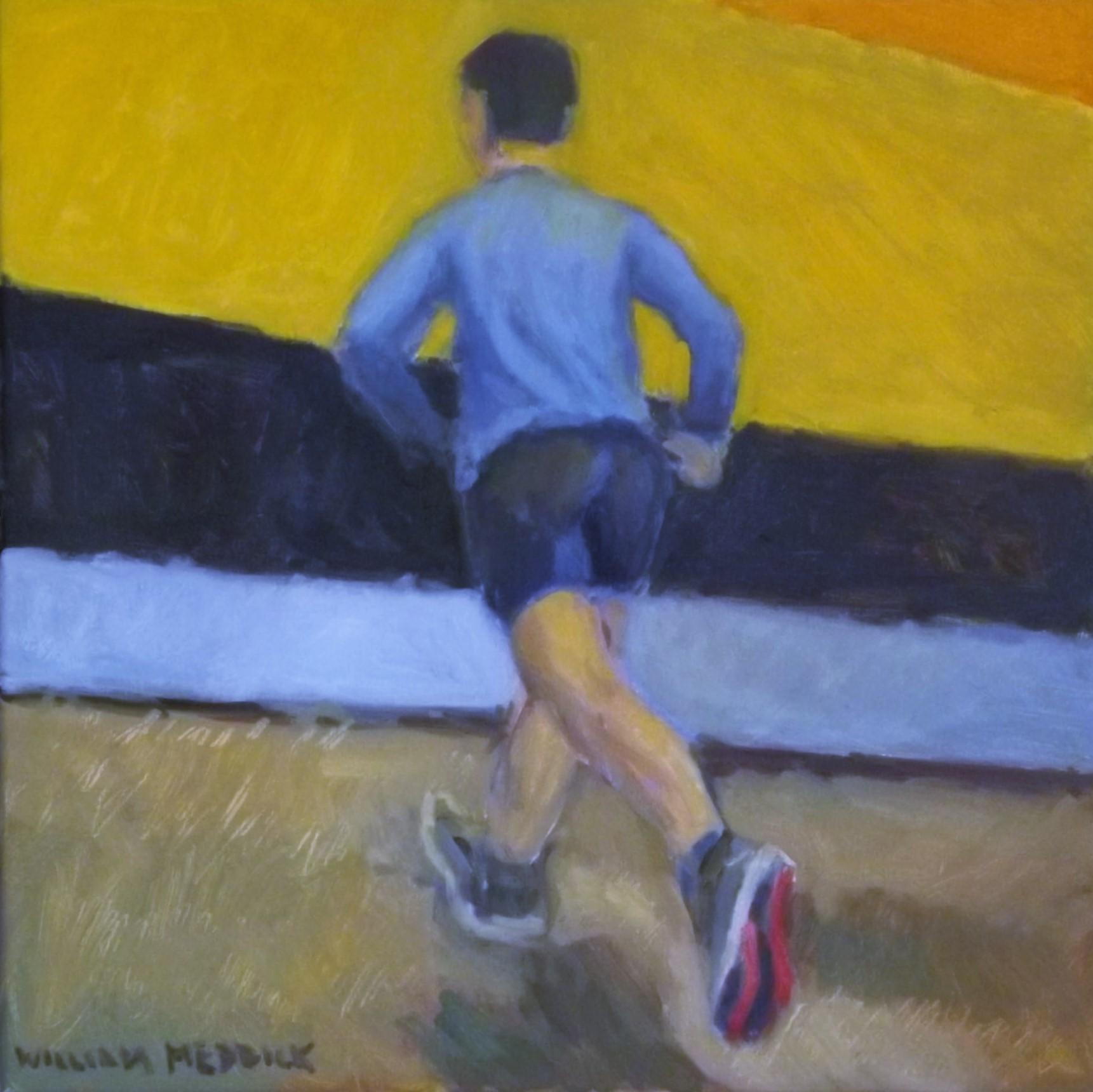 Running Away, oil/linen, 16 x 16