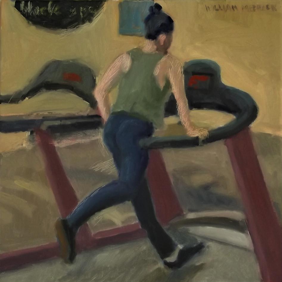 Alien Ride, oil/linen, 16 x 16