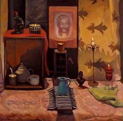 The Altar, oil, 36 x 36