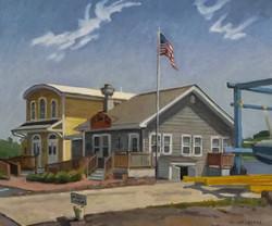 Boat House Cafe, oil/linen, 20 x 24