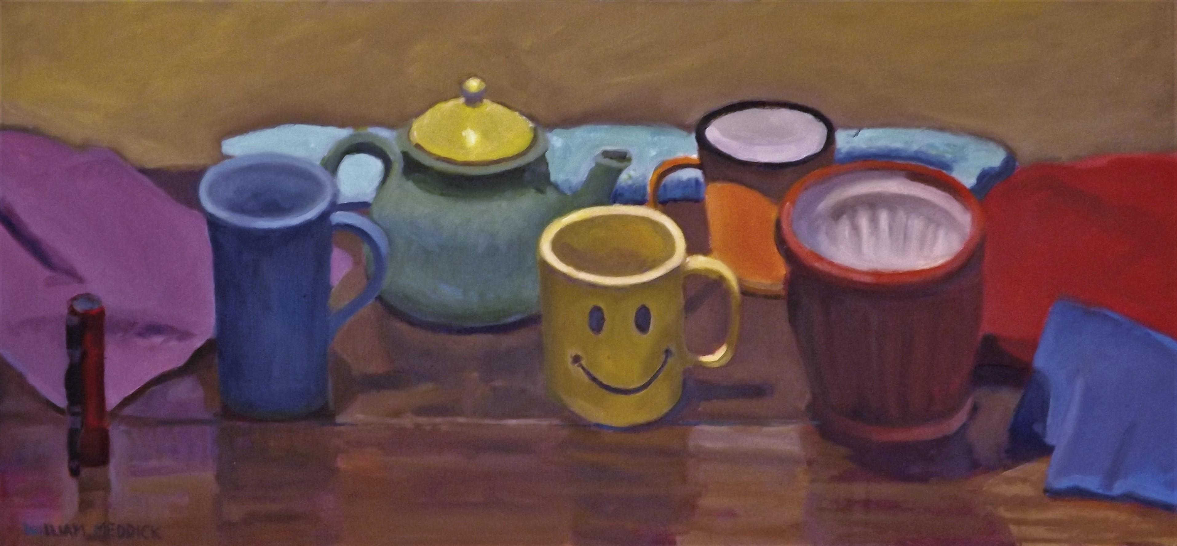 Smiley Face, oil, 14 x 30