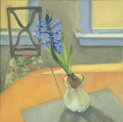 Blue Hyacinth, oil/linen