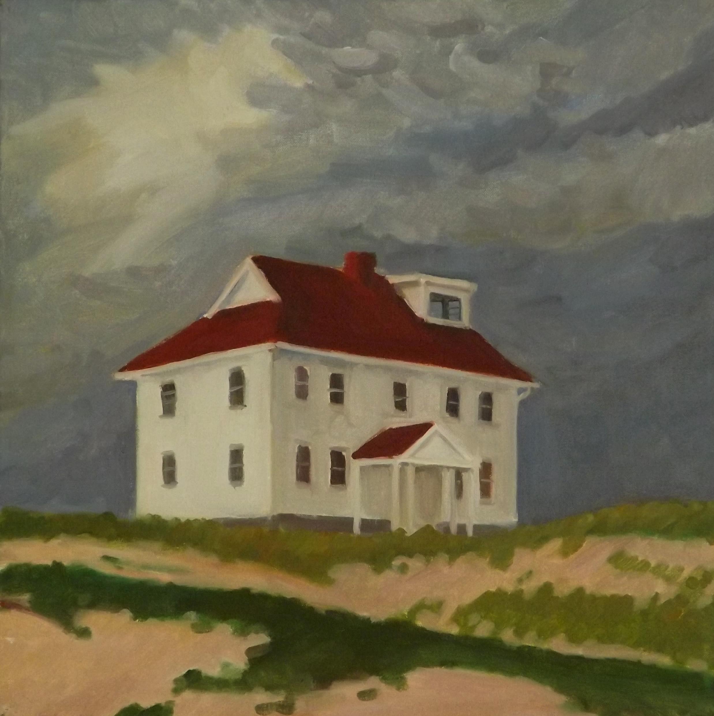 Overcast Station, oil, 16 x 16