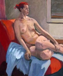 Nude, oil,  24 x 20