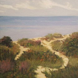 Dune Paths, oil/linen, 16 x 16
