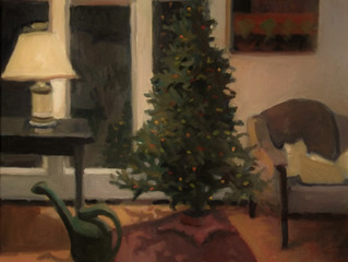 I never thought I'd paint a Christmas Tree