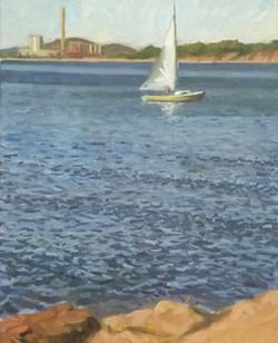 Sailboat, oil, 20 x 16