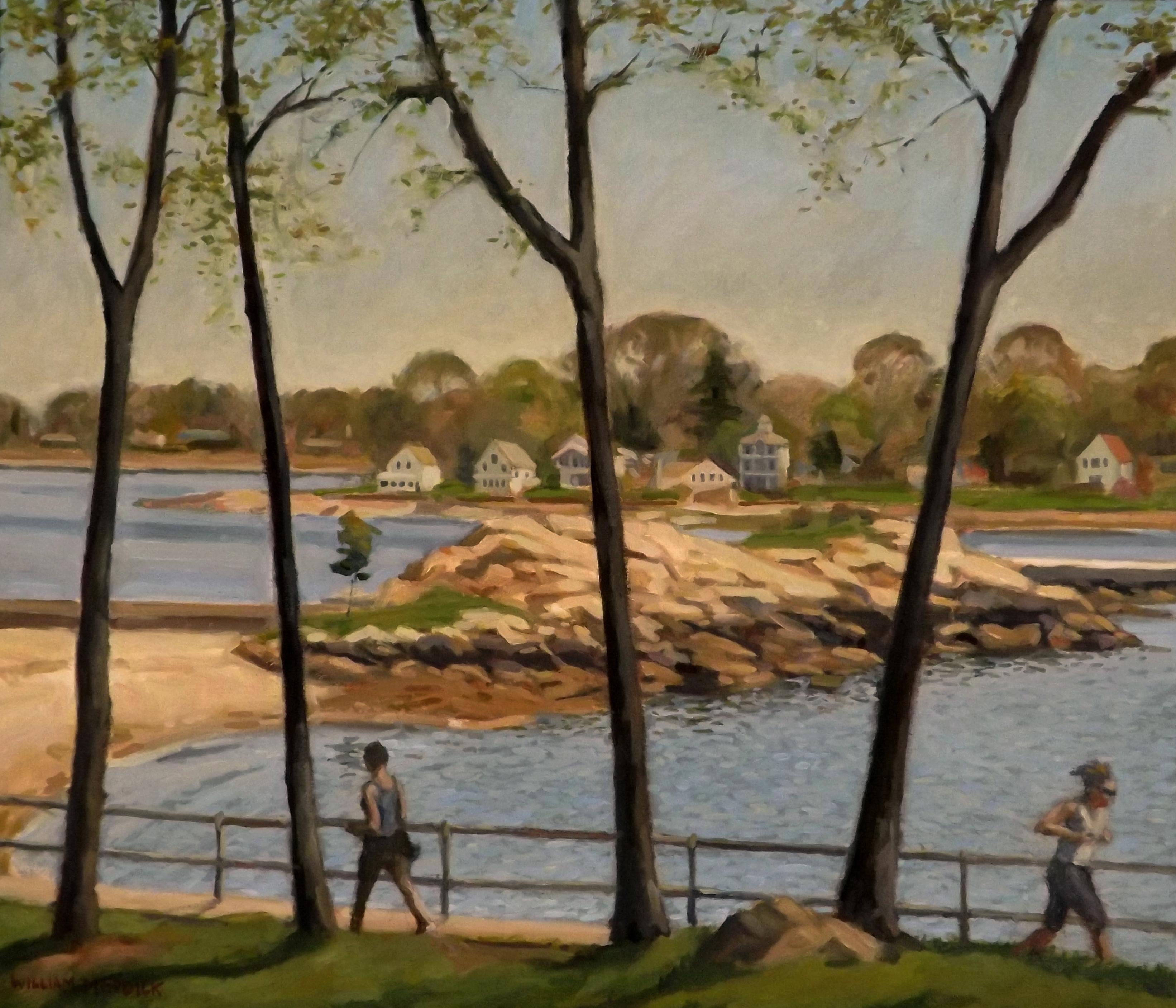 Branford Point, Spring, oil, 24 x 28