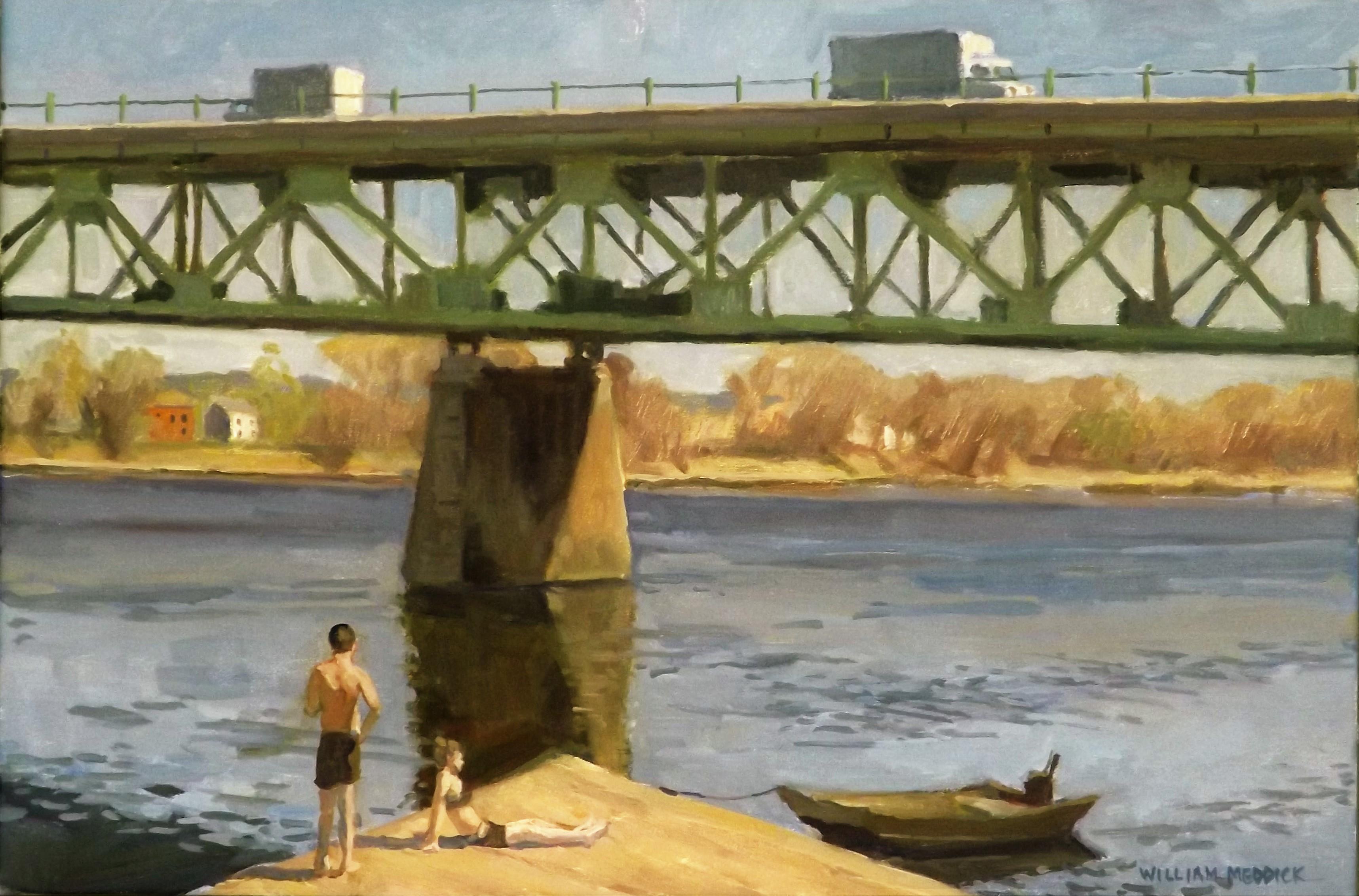 CT River,oil/linen, 16 x 24