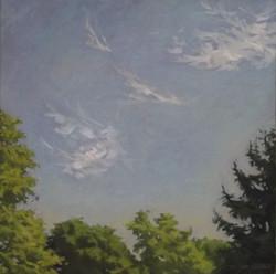 Clouds,oil/linen, 30 x 30